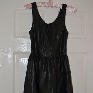 H&M Faux Leather Skater Dress Vanderpump Rules